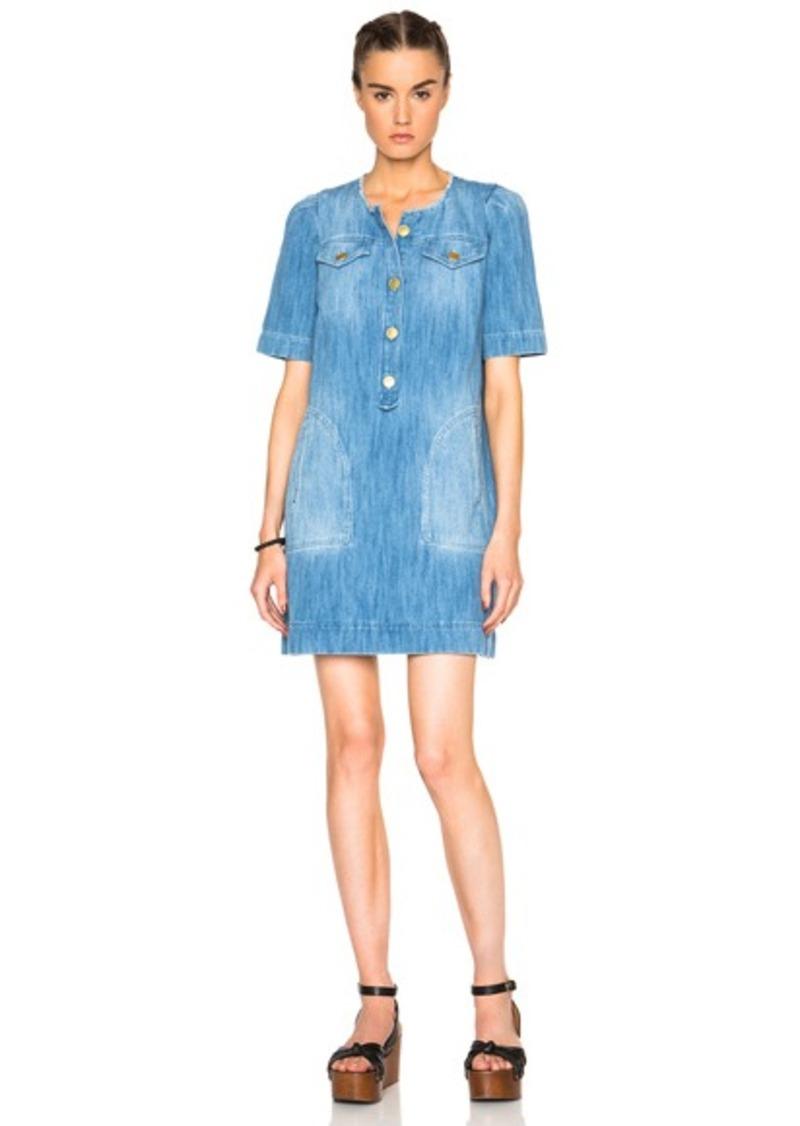 Isabel Marant Etoile Oriane Fluffy Jean Dress