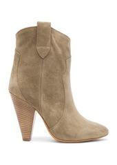 Isabel Marant Etoile Roxann Calfskin Velvet Leather Booties