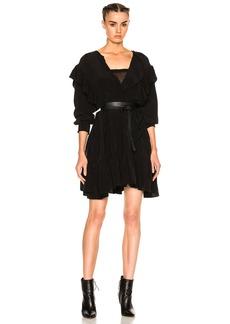 Isabel Marant Etoile Wedy City Flou Ruffled Mini Dress