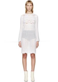 Isabel Marant Etoile White Crocheted Hariett Dress