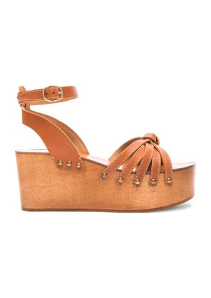 Isabel Marant Etoile Zia Leather Wedge Sandals