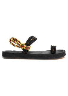 Isabel Marant Eydma plaited-canvas sandals
