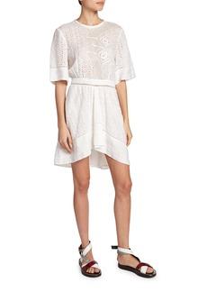 Isabel Marant Eyelet-Lace Asymmetric Dress