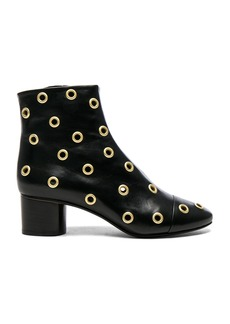 Isabel Marant Eyelet Leather Danay Ankle Boots