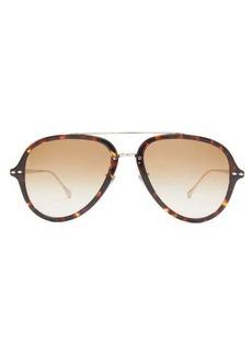 Isabel Marant Eyewear Windsor aviator tortoiseshell-acetate sunglasses