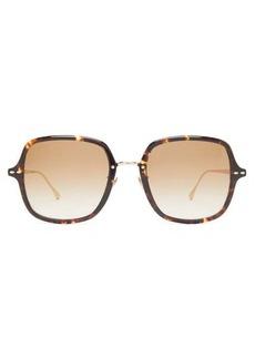 Isabel Marant Eyewear Windsor square tortoiseshell-acetate sunglasses