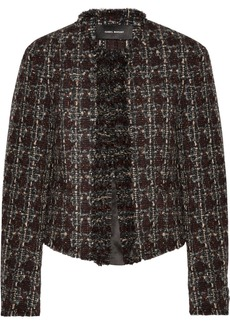 Isabel Marant Fania cropped wool-blend tweed jacket