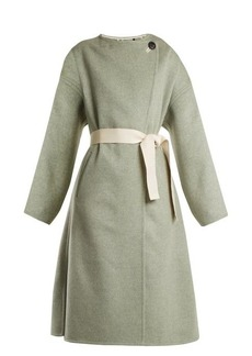Isabel Marant Fargo oversized tie-waist wool-blend coat