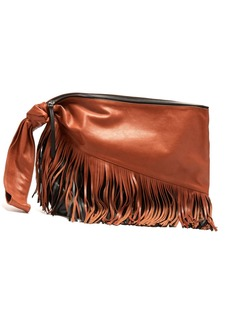 Isabel Marant Farwo tasselled leather clutch