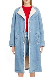 Isabel Marant Faux Fur Lined Denim Coat