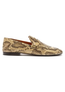 f040bac1d9d Isabel Marant Fezzy metallic cracked-leather collapsible-heel ...
