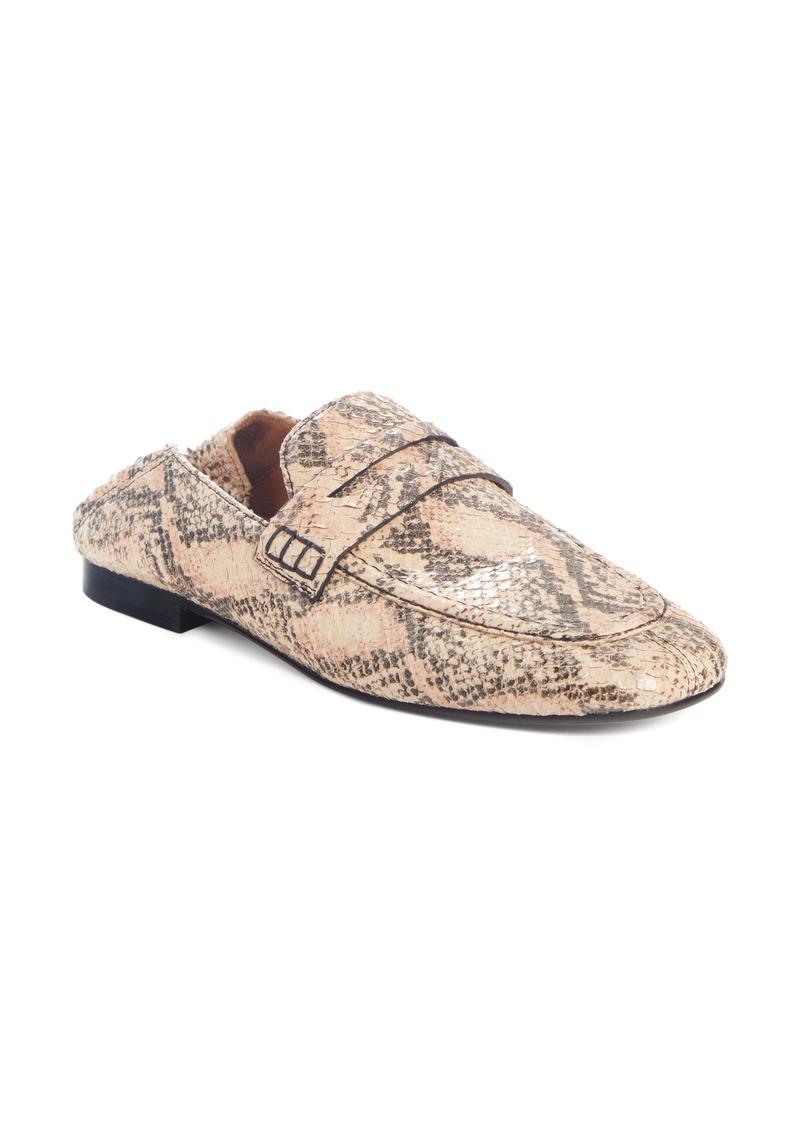Isabel Marant Fezzy Snakeskin Embossed Convertible Loafer (Women)