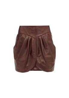 Isabel Marant Fionali leather mini wrap skirt