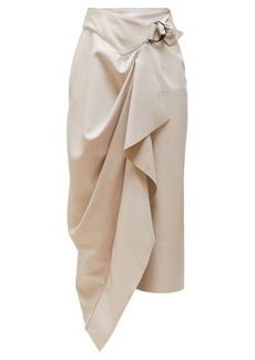 Isabel Marant Fiova draped leather midi skirt