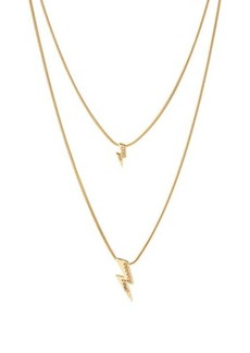 Isabel Marant Flash crystal-embellished lightning-bolt necklace