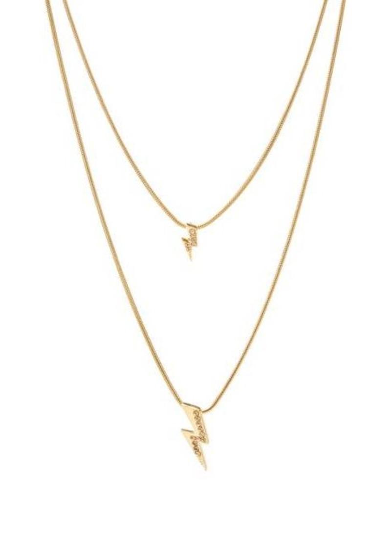 Isabel Marant Flash crystal-embellished lightning-bolt necklace