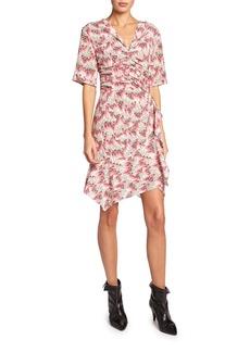 Isabel Marant Floral Mini V-Neck Dress
