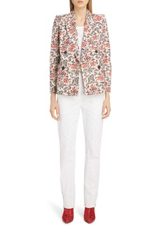 Isabel Marant Floral Print Double Breasted Blazer