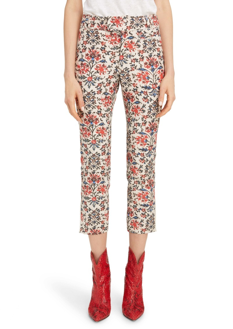 Isabel Marant Floral Print Slim Pants