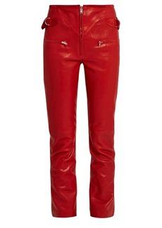 Isabel Marant Florrie slim-leg leather trousers