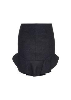 Isabel Marant Frill-hem wool-blend mini skirt