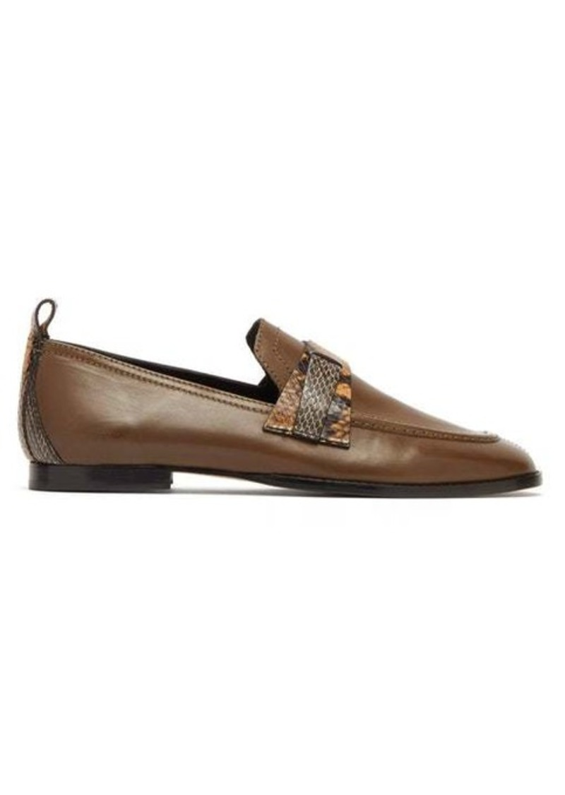 Isabel Marant Fullee python effect-strap leather loafers