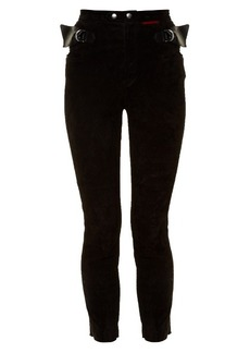 Isabel Marant Gabe skinny-leg suede trousers