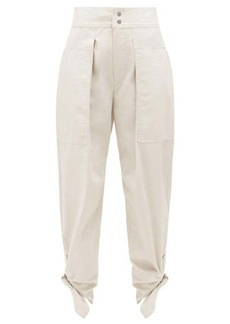 Isabel Marant Gaviao tie-cuff cotton trousers