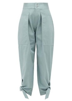 Isabel Marant Gavio cotton-canvas high-rise trousers