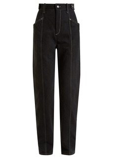 Isabel Marant Genie high-rise straight-leg jeans