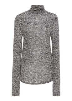 Isabel Marant Goyela Printed Stretch-Knit Turtleneck Top
