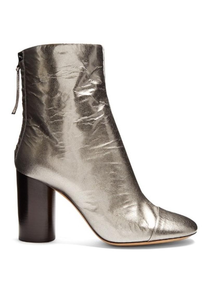 isabel marant isabel marant grover crinkle patent leather ankle boots shoes shop it to me. Black Bedroom Furniture Sets. Home Design Ideas