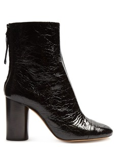 Isabel Marant Grover crinkle patent-leather ankle boots