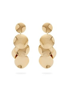 Isabel Marant Hammered disc drop earrings