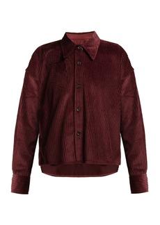 Isabel Marant Hanao cropped cotton-corduroy shirt