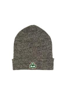Isabel Marant Hart logo wool beanie hat