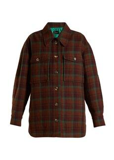 Isabel Marant Harvey oversized checked wool jacket