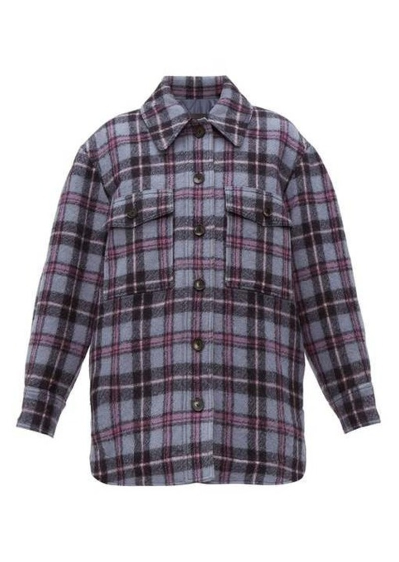 Isabel Marant Harvey checked brushed-wool overshirt