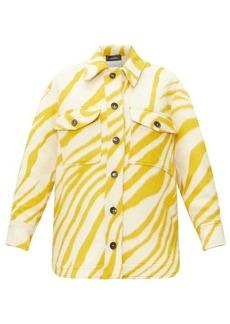 Isabel Marant Harvey tiger-print brushed-wool overshirt