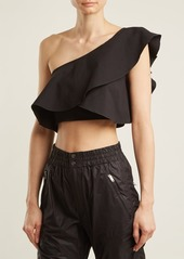 Isabel Marant Hayo one-shoulder ruffle crop-top