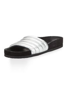 Isabel Marant Hellea Leather Slide Sandal