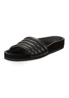 Isabel Marant Hellea Quilted One-Band Slide Sandal