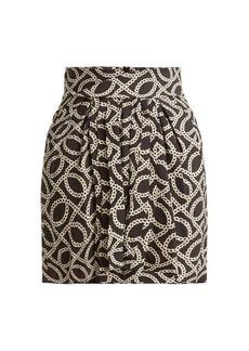 Isabel Marant Hemen cog-print silk-blend mini skirt