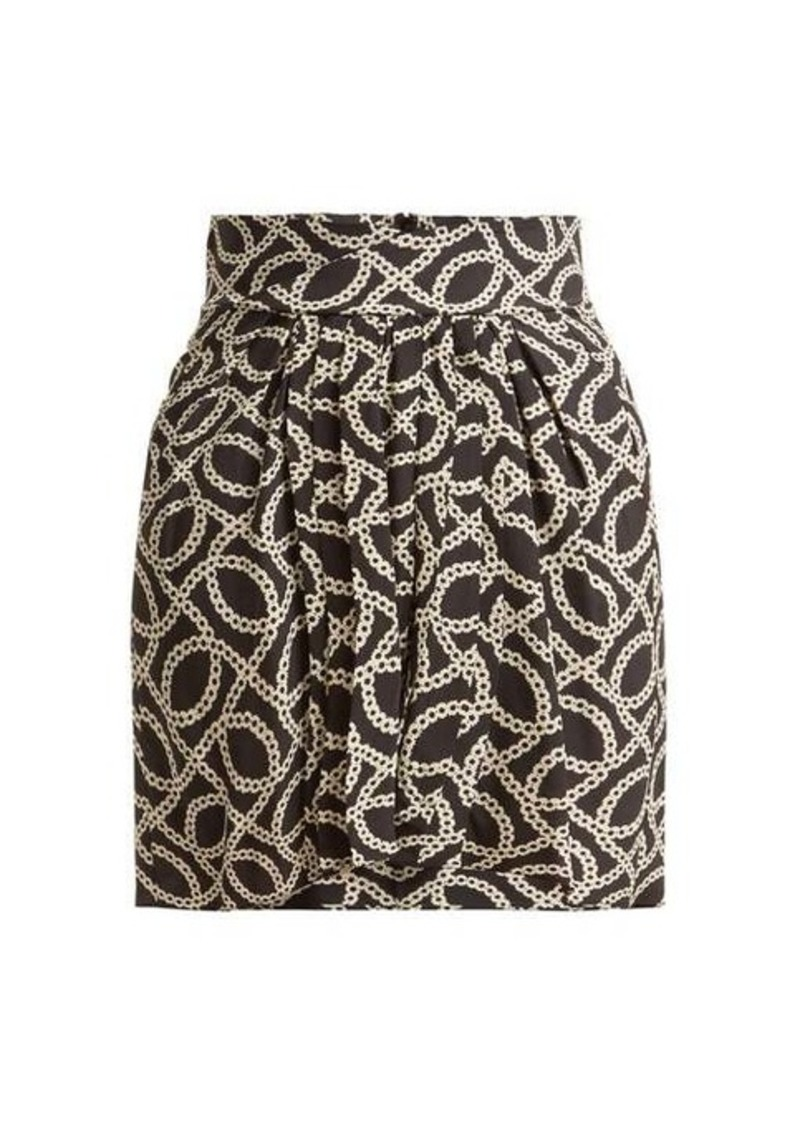 Isabel Marant Hemen cog-print silk-blend mini skirt