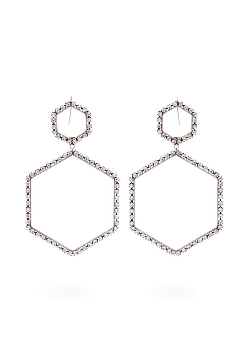 b3a587bfc28 Isabel Marant Isabel Marant Here It Is crystal hexagon-drop earrings ...
