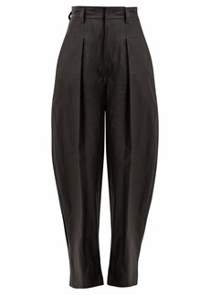 Isabel Marant Hexi high-rise coated-cotton trousers