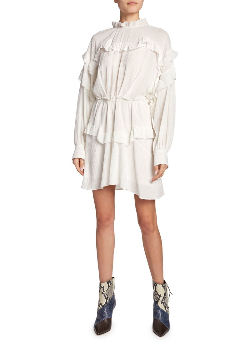 Isabel Marant High-Neck Ruffled Dress