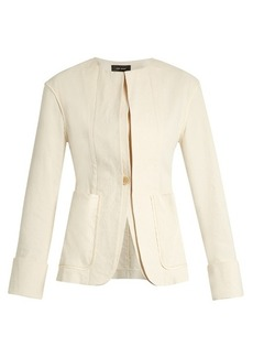 Isabel Marant Honey collarless cotton-blend jacket