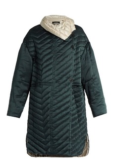 Isabel Marant Howell bi-colour padded silk coat