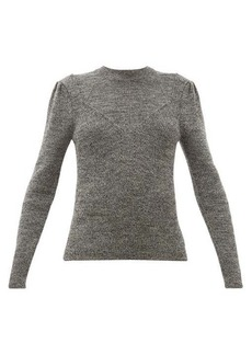 Isabel Marant Hynn gathered-sleeve wool-blend sweater
